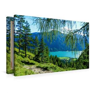 Premium Textil-Leinwand 90 cm x 60 cm quer Hinab zum Achensee,Ti
