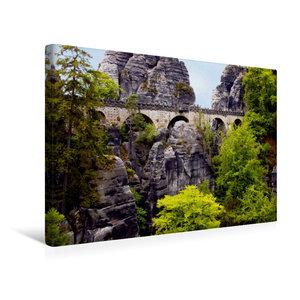 Premium Textil-Leinwand 45 cm x 30 cm quer Basteibrücke im Elbsa