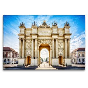 Premium Textil-Leinwand 120 cm x 80 cm quer Brandenburger Tor -
