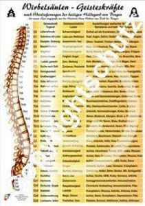 Wirbelsäulen-Geisteskräfte Übersichtskarte