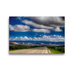Premium Textil-Leinwand 45 cm x 30 cm quer Auf der State Route 1