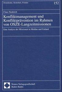 Konfliktmanagement und Konfliktprävention im Rahmen von OSZE-Lan