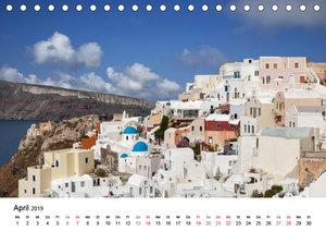Santorini - Am Krater des Vulkans (Tischkalender 2019 DIN A5 que