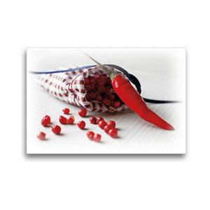 Premium Textil-Leinwand 45 cm x 30 cm quer Pfeffer Säckchen