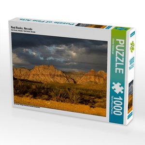 Red Rocks, Nevada 1000 Teile Puzzle quer