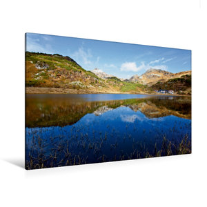 Premium Textil-Leinwand 120 cm x 80 cm quer Der Hundsfeldsee