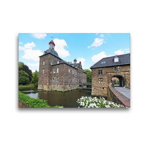 Premium Textil-Leinwand 45 cm x 30 cm quer Wasserschloss Hugenpo