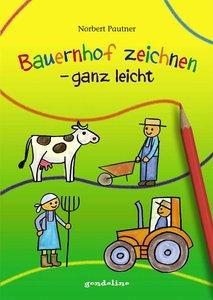 Bauernhof zeichnen - ganz leicht