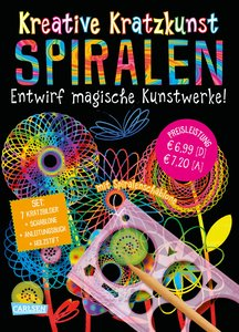 Kreative Kratzkunst: Spiralen: Set mit 7 Kratztafeln, Spirograph