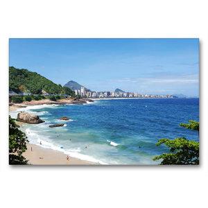 Premium Textil-Leinwand 90 cm x 60 cm quer Rio de Janeiro\'s Geh