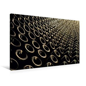 Premium Textil-Leinwand 90 cm x 60 cm quer Keller Flaschen