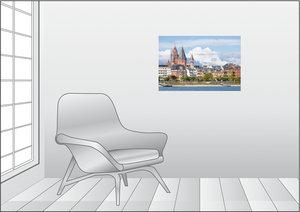 Premium Textil-Leinwand 75 cm x 50 cm quer Mainz am Rhein