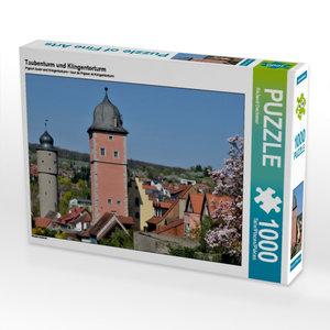 Taubenturm und Klingentorturm 1000 Teile Puzzle quer