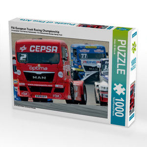 FIA European Truck Racing Championship 1000 Teile Puzzle quer