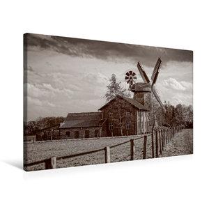 Premium Textil-Leinwand 75 cm x 50 cm quer Historische Mühle