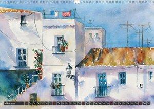 Malerische Dorfansichten in Aquarell (Wandkalender 2020 DIN A3 q