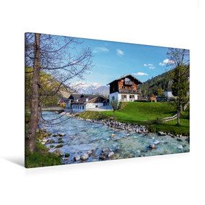 Premium Textil-Leinwand 120 cm x 80 cm quer Ramsau, Berchtesgade
