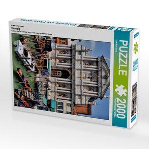 Ein Motiv aus dem Kalender Venedig 2000 Teile Puzzle hoch
