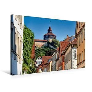 Premium Textil-Leinwand 90 cm x 60 cm quer Der dicke Turm der Es