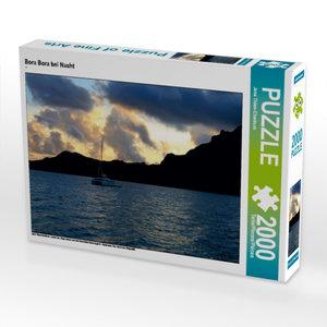Bora Bora bei Nacht 2000 Teile Puzzle quer