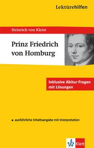 """Lektürehilfen Heinrich von Kleist """"Prinz Friedrich von Homburg"""""""