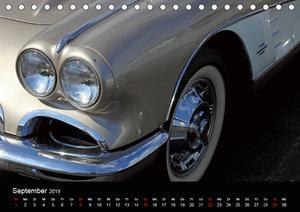 Classic Cars aus den USA (Tischkalender 2019 DIN A5 quer)
