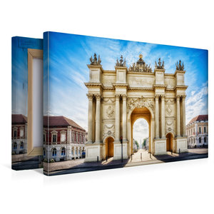 Premium Textil-Leinwand 45 cm x 30 cm quer Brandenburger Tor - P
