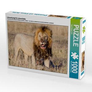 Löwenkampf & Löwenliebe 1000 Teile Puzzle quer