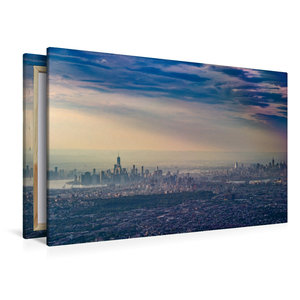 Premium Textil-Leinwand 120 cm x 80 cm quer New York - Brooklyn