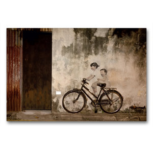 Premium Textil-Leinwand 90 cm x 60 cm quer Straßenkunst in Georg