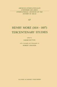 Henry More (1614-1687) Tercentenary Studies