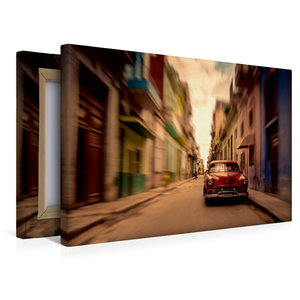 Premium Textil-Leinwand 45 cm x 30 cm quer Havanna