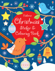 Christmas Sticker and Colouring Book