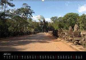 Die Tempelanlagen von Angkor (Wandkalender 2019 DIN A2 quer)