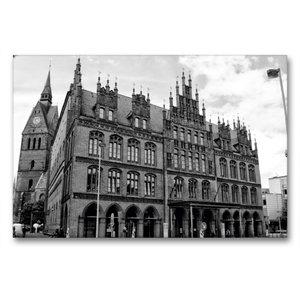 Premium Textil-Leinwand 90 cm x 60 cm quer Altes Rathaus