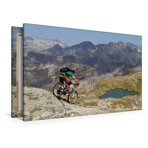 Premium Textil-Leinwand 120 cm x 80 cm quer Vaujany/France,