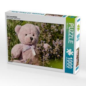 Lila Lavendelbär 1000 Teile Puzzle quer