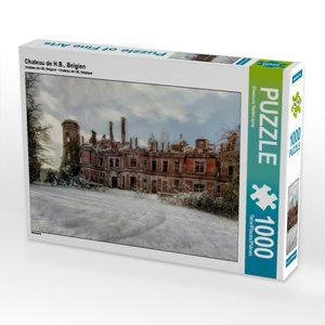 Chateau de H.B., Belgien 1000 Teile Puzzle quer