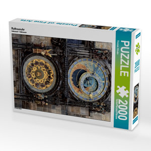 Rathausuhr 2000 Teile Puzzle hoch