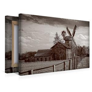 Premium Textil-Leinwand 45 cm x 30 cm quer Historische Mühle