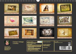 French Vintage Country (Wandkalender 2019 DIN A3 quer)