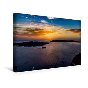 Premium Textil-Leinwand 45 cm x 30 cm quer Der wunderbare Sonnen