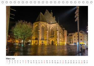 Halle bei Nacht (Tischkalender 2020 DIN A5 quer)