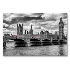 Premium Textil-Leinwand 90 cm x 60 cm quer LONDON Westminster Br