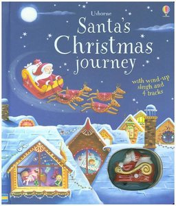 Santa\'s Christmas Journey with Wind-Up Sleigh
