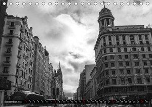 Madrid - Schwarz-Weiß Impressionen (Tischkalender 2019 DIN A5 qu