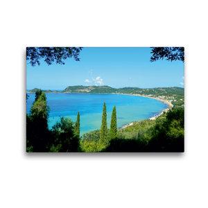 Premium Textil-Leinwand 45 cm x 30 cm quer Bucht von Ágios Geórg