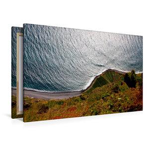 Premium Textil-Leinwand 120 cm x 80 cm quer Cabo Girão