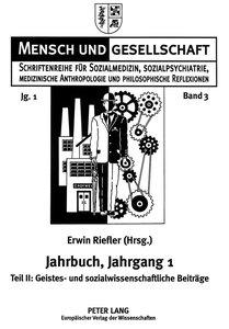 Jahrbuch für Sozialmedizin, Sozialpsychiatrie, medizinische Anth