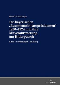Die bayerischen «Beamtenministerpräsidenten» 1920-1924 und ihre